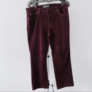Ralph Lauren Purple Corduroy Pants